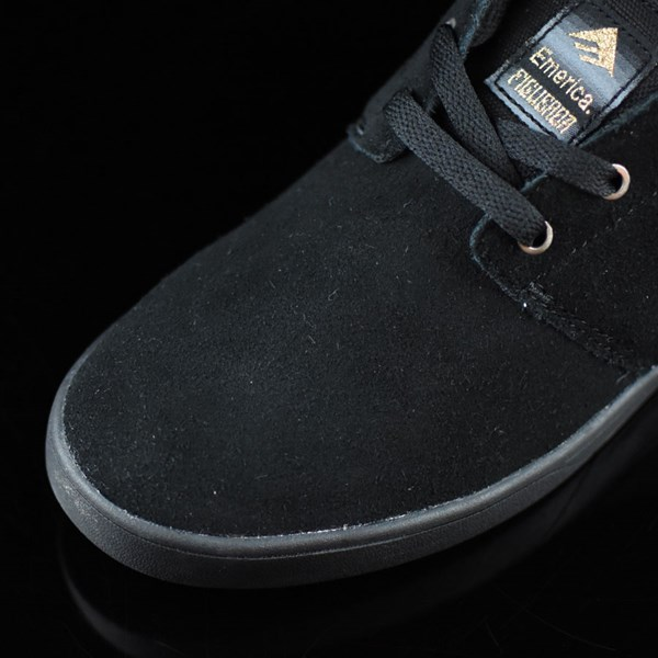 Emerica The Figueroa Shoes Black, Black Closeup