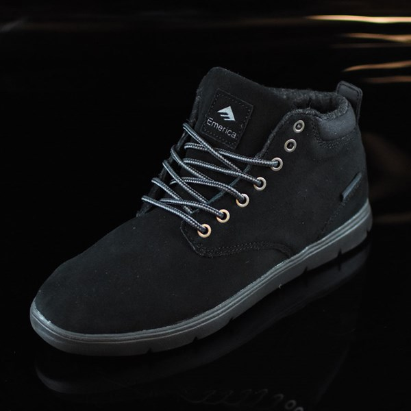 Emerica Wino Cruiser Hi LT Shoes Black, Black Rotate 7:30