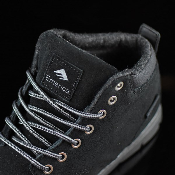 Emerica Wino Cruiser Hi LT Shoes Black, Black Tongue