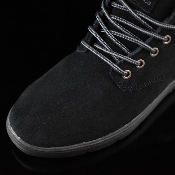 Emerica Wino Cruiser Hi LT Shoes Black, Black Closeup
