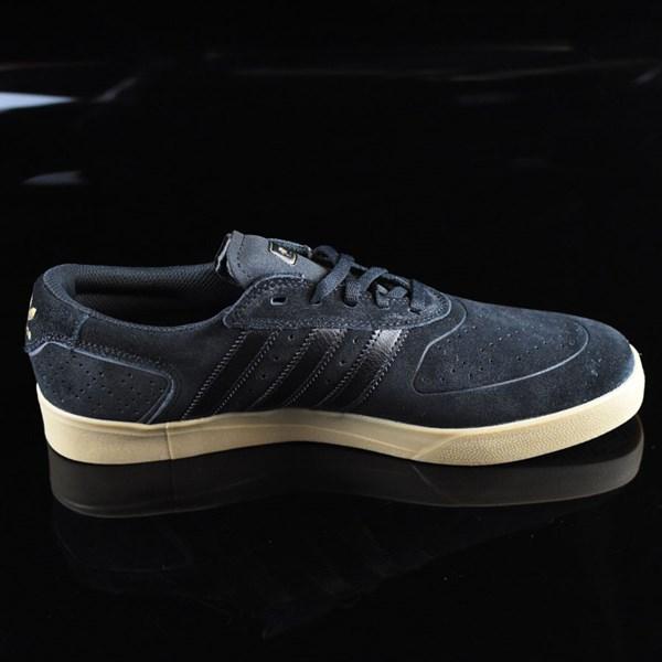 adidas Silas Vulc ADV Shoes Black, Black, Gum Rotate 3 O'Clock