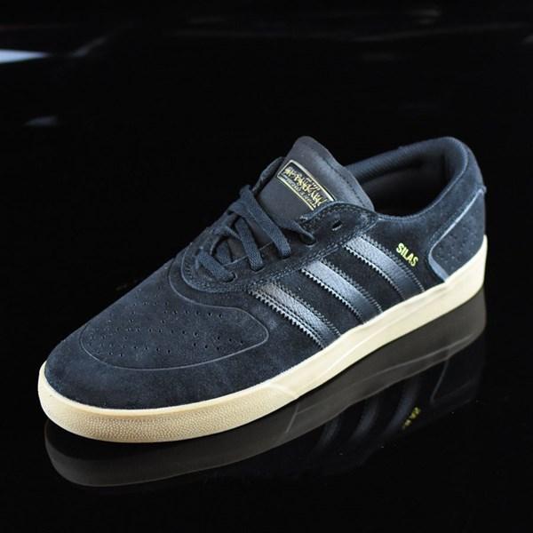adidas Silas Vulc ADV Shoes Black, Black, Gum Rotate 7:30