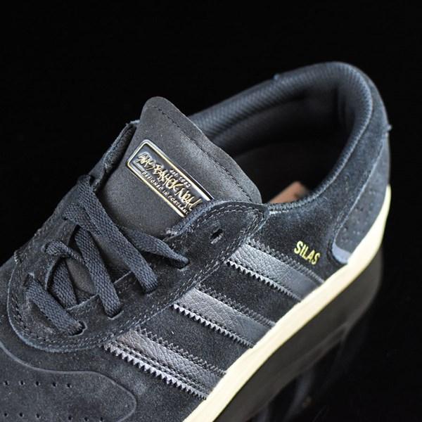 adidas Silas Vulc ADV Shoes Black, Black, Gum Tongue