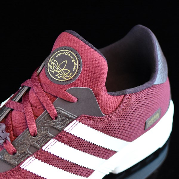 adidas ZX Gonz Shoes Burgundy, White Tongue