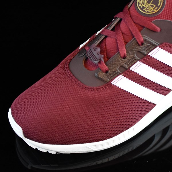 adidas ZX Gonz Shoes Burgundy, White Closeup