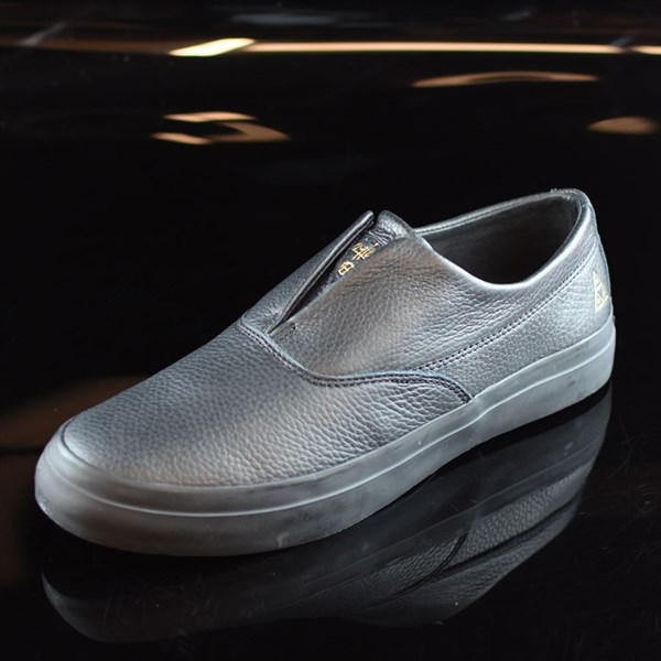 aa7c0c66f5e5dd ... HUF Dylan Rieder Slip On Shoes Black Leather Rotate 7 30 ...