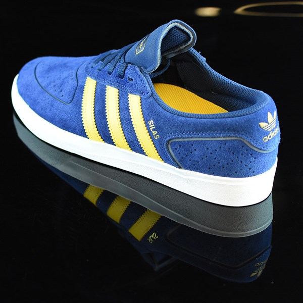 adidas Silas Vulc ADV Shoes Oxford Blue/ Corn Yellow Rotate 7:30