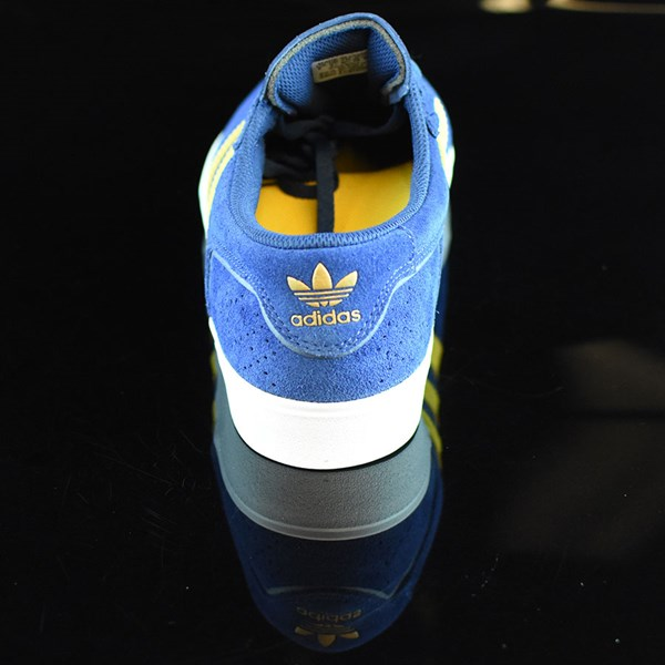 adidas Silas Vulc ADV Shoes Oxford Blue/ Corn Yellow Rotate 12 O'Clock