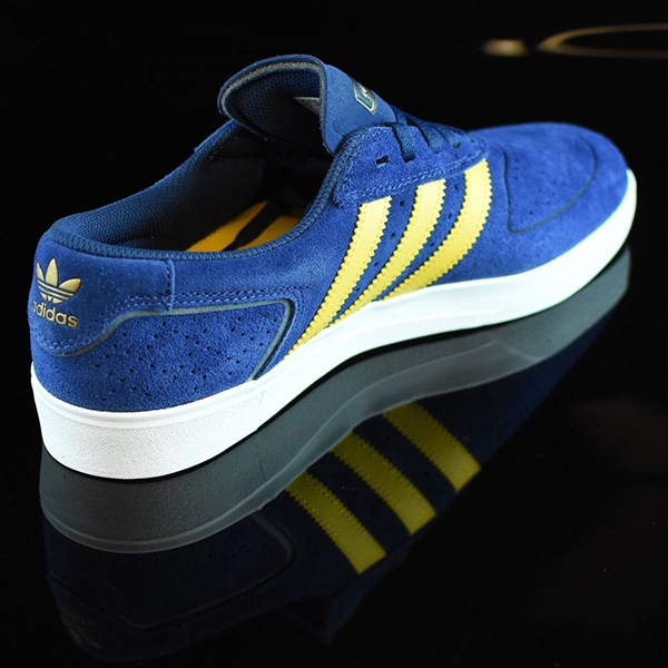 adidas Silas Vulc ADV Shoes Oxford Blue/ Corn Yellow Rotate 1:30