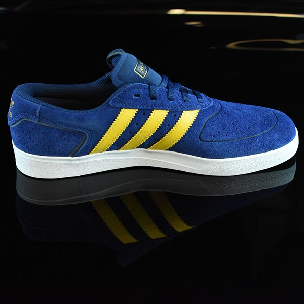 adidas Silas Vulc ADV Shoes Oxford Blue/ Corn Yellow Rotate 3 O'Clock