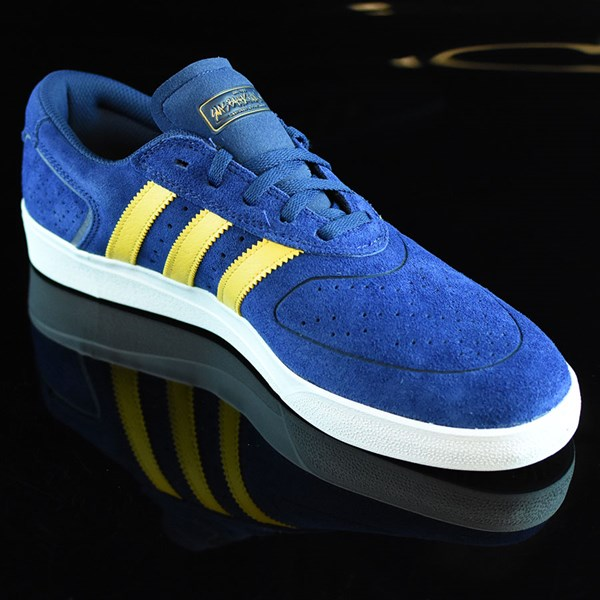 adidas Silas Vulc ADV Shoes Oxford Blue/ Corn Yellow Rotate 4:30