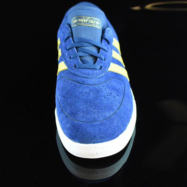 adidas Silas Vulc ADV Shoes Oxford Blue/ Corn Yellow Rotate 6 O'Clock
