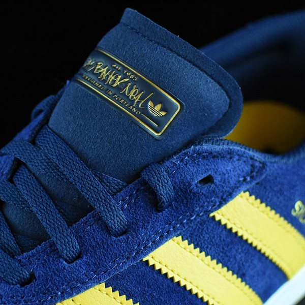 adidas Silas Vulc ADV Shoes Oxford Blue/ Corn Yellow Tongue