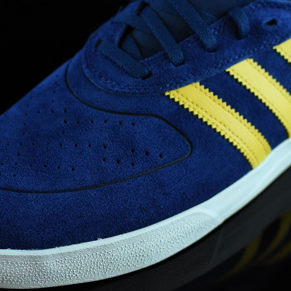 adidas Silas Vulc ADV Shoes Oxford Blue/ Corn Yellow Closeup