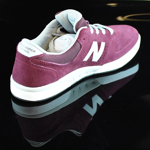 NB# Stratford Shoes Burgundy, Grey Rotate 1:30