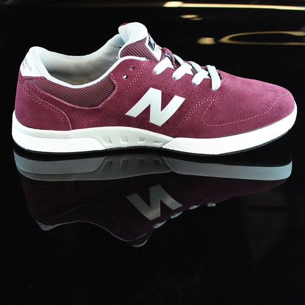 NB# Stratford Shoes Burgundy, Grey Rotate 3 O'Clock