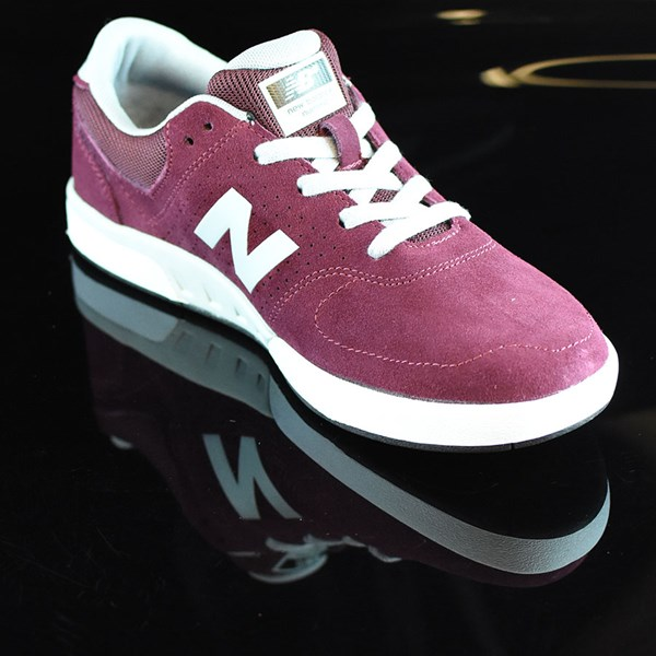 NB# Stratford Shoes Burgundy, Grey Rotate 4:30