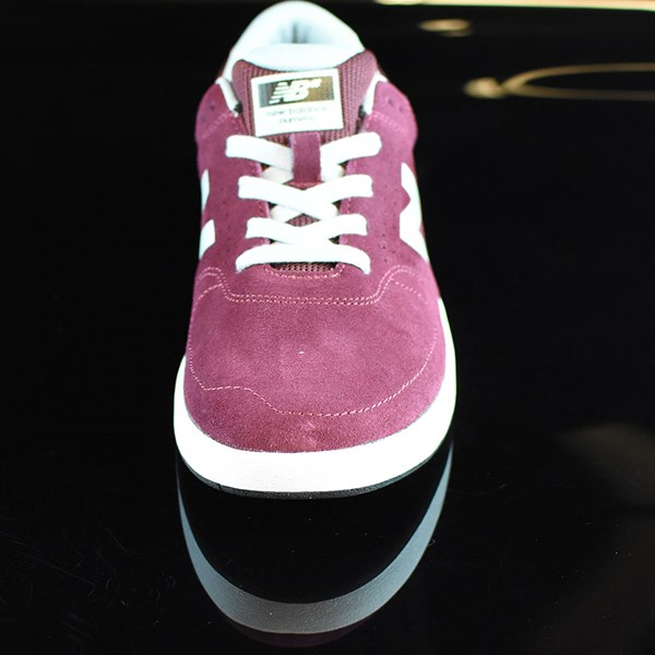 NB# Stratford Shoes Burgundy, Grey Rotate 6 O'Clock