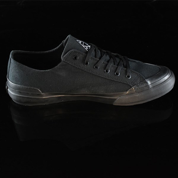 HUF Classic Lo Shoes Black, Black Rotate 3 O'Clock