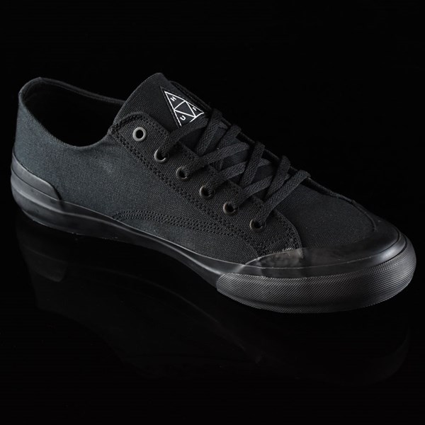 HUF Classic Lo Shoes Black, Black Rotate 4:30
