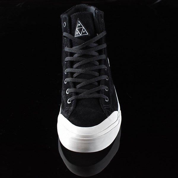 HUF Classic Hi Shoes Black, Bone Rotate 6 O'Clock