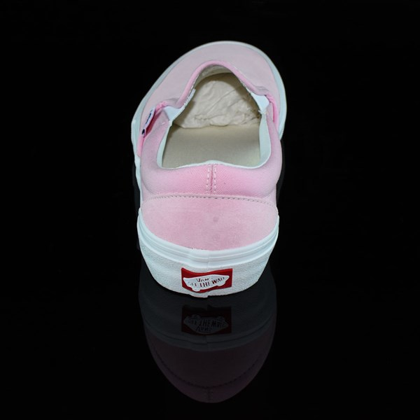 Vans Slip On Pro Shoes Candy Pink Rotate 12 O'Clock