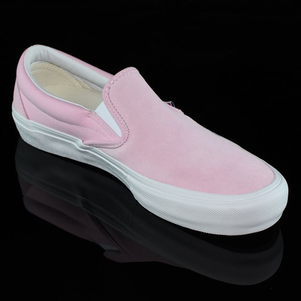 Vans Slip On Pro Shoes Candy Pink Rotate 4:30