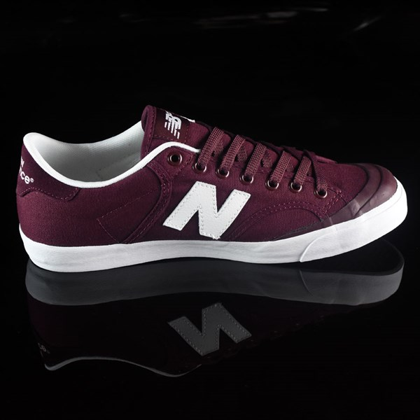 NB# Pro Court 212 Shoes Burgundy Rotate 3 O'Clock