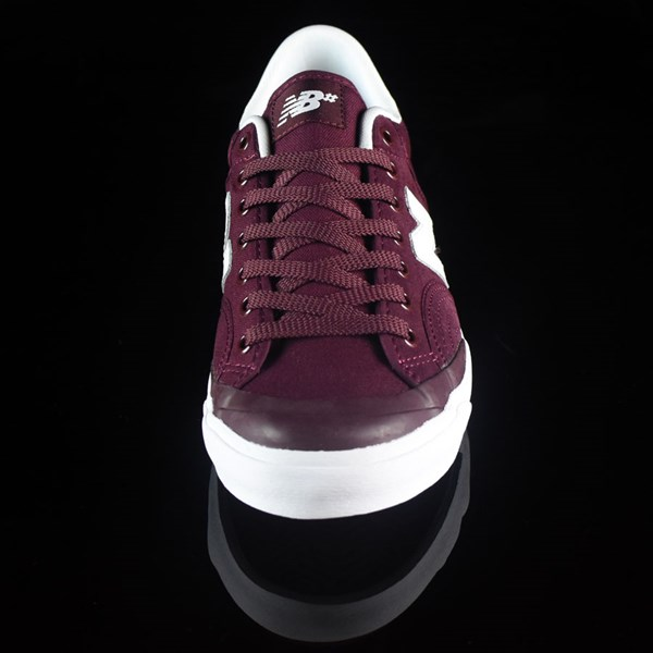 NB# Pro Court 212 Shoes Burgundy Rotate 6 O'Clock