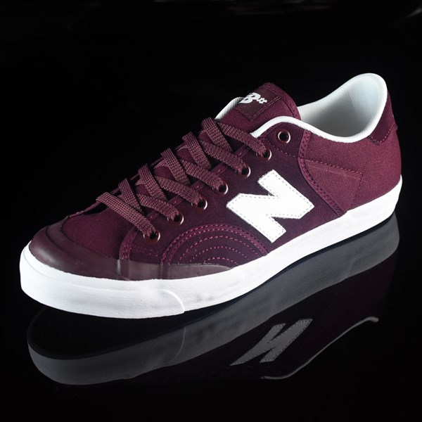 NB# Pro Court 212 Shoes Burgundy Rotate 7:30