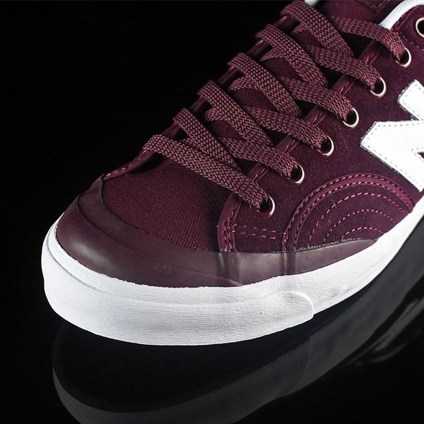 NB# Pro Court 212 Shoes Burgundy Closeup