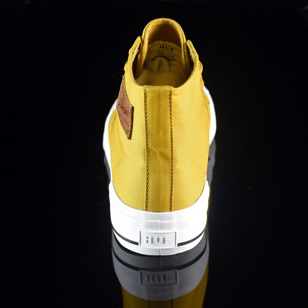 HUF Classic Hi Shoes Mustard, Millerrain Fabric Rotate 12 O'Clock