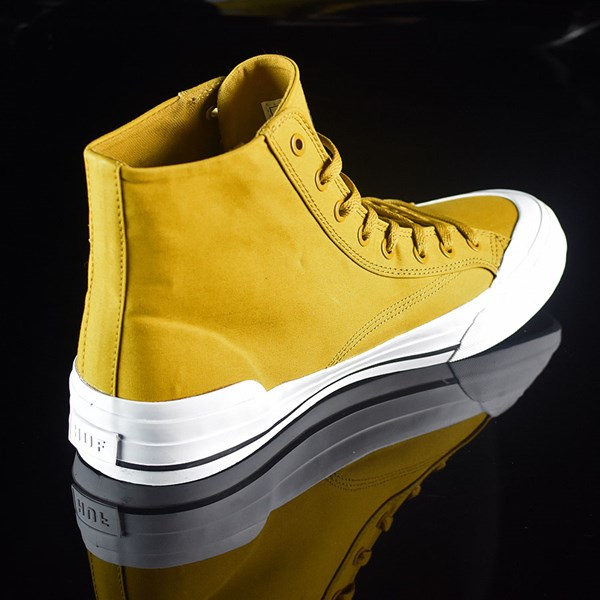 HUF Classic Hi Shoes Mustard, Millerrain Fabric Rotate 1:30