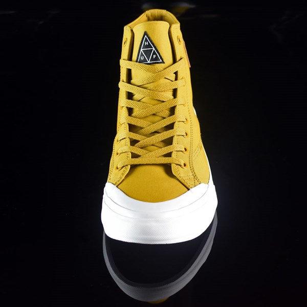 HUF Classic Hi Shoes Mustard, Millerrain Fabric Rotate 6 O'Clock