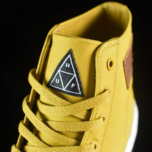 HUF Classic Hi Shoes Mustard, Millerrain Fabric Tongue