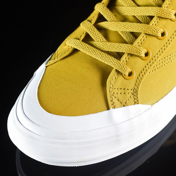 HUF Classic Hi Shoes Mustard, Millerrain Fabric Closeup