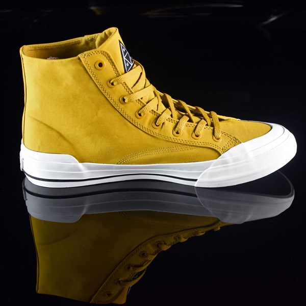 HUF Classic Hi Shoes Mustard, Millerrain Fabric Rotate 3 O'Clock