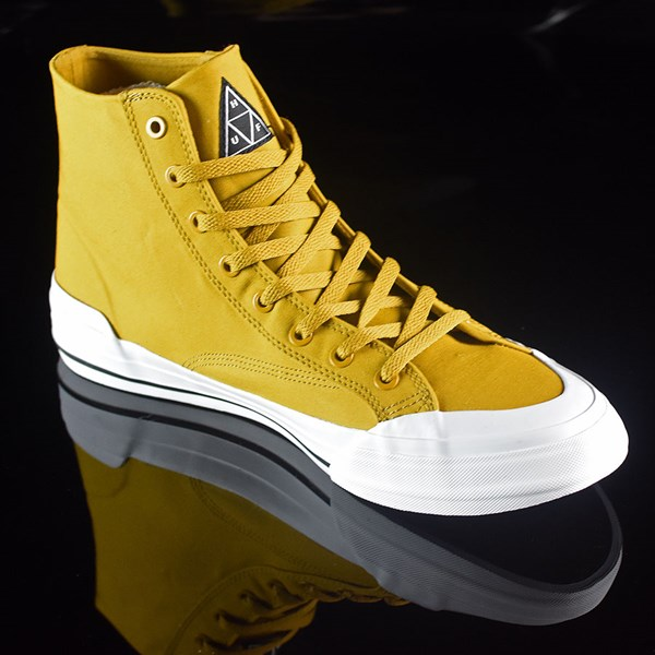 HUF Classic Hi Shoes Mustard, Millerrain Fabric Rotate 4:30