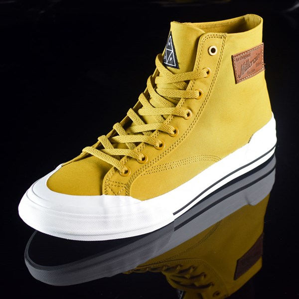 HUF Classic Hi Shoes Mustard, Millerrain Fabric Rotate 7:30