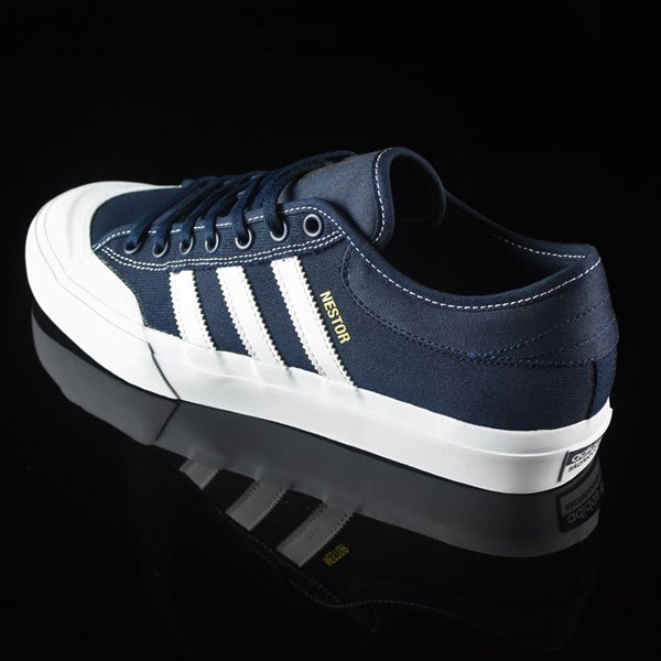 adidas Matchcourt Low Shoes Navy, White, Nestor Rotate 7:30