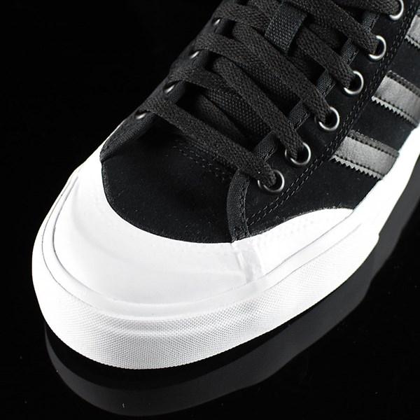 adidas Matchcourt Low Shoes Black, Black, White Closeup