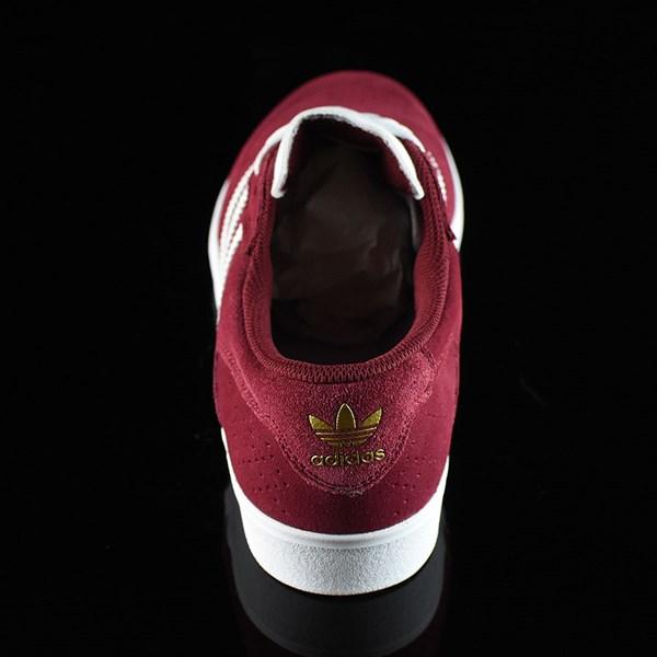 adidas Silas Vulc ADV Shoes Burgundy Rotate 12 O'Clock