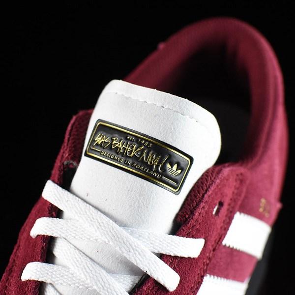 adidas Silas Vulc ADV Shoes Burgundy Tongue