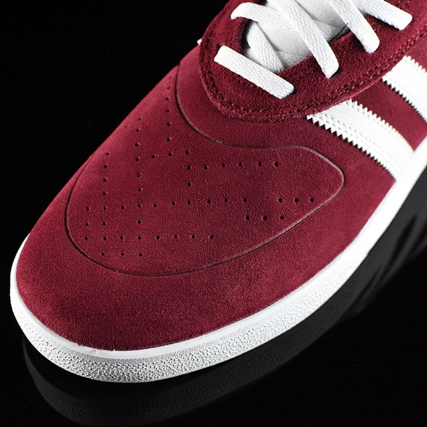 adidas Silas Vulc ADV Shoes Burgundy Closeup
