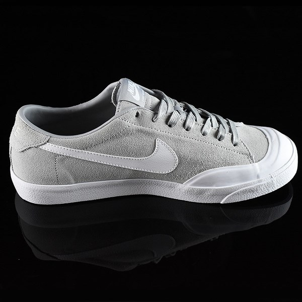 Nike SB Zoom All Court CK Shoes Grey Rotate 3 O'Clock