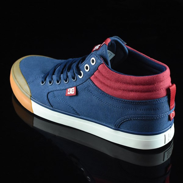 DC Shoes Evan Smith HI Shoe Navy, Red Rotate 7:30
