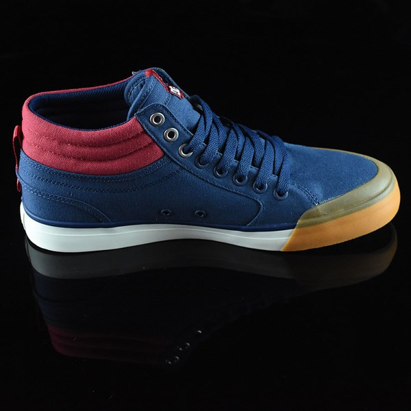 DC Shoes Evan Smith HI Shoe Navy, Red Rotate 3 O'Clock