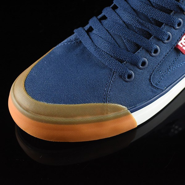 DC Shoes Evan Smith HI Shoe Navy, Red Closeup
