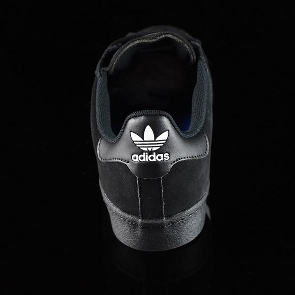 adidas Superstar Vulc ADV Shoes Black Suede, Black, White Rotate 12 O'Clock