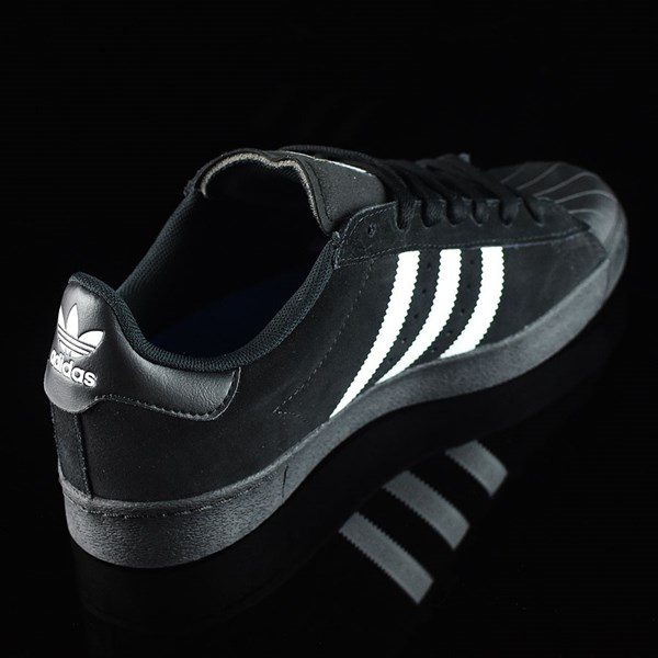 adidas Superstar Vulc ADV Shoes Black Suede, Black, White Rotate 1:30